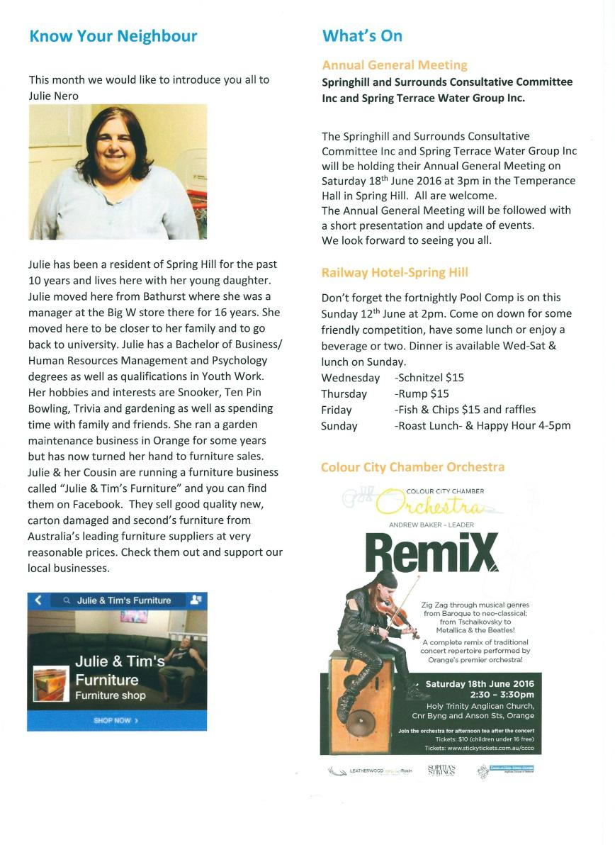 Spring Hill newsletter - June 16 - page 2