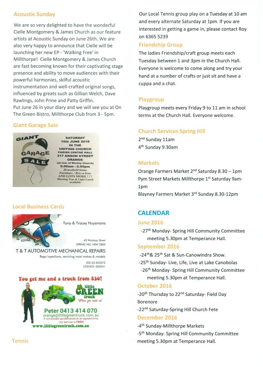 Spring Hill newsletter - June 16 - page 3