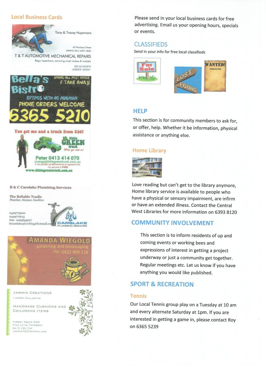 Spring Hill Newsletter - March - P4